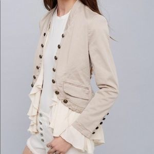 Free People Pale Pink Military Jacket